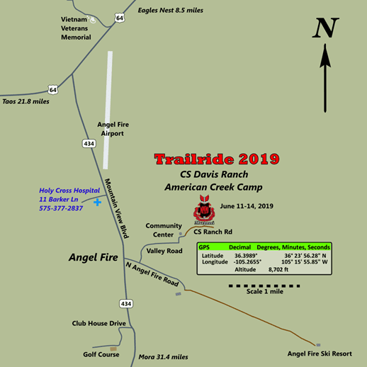 Trail Ride Map To Angel Fire New Mexico Military Institute
