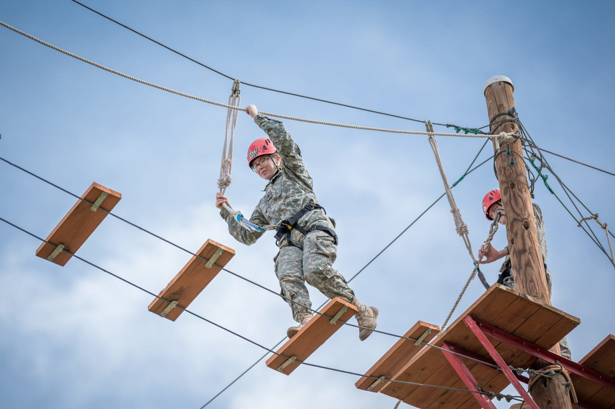 cadet on high ropes course