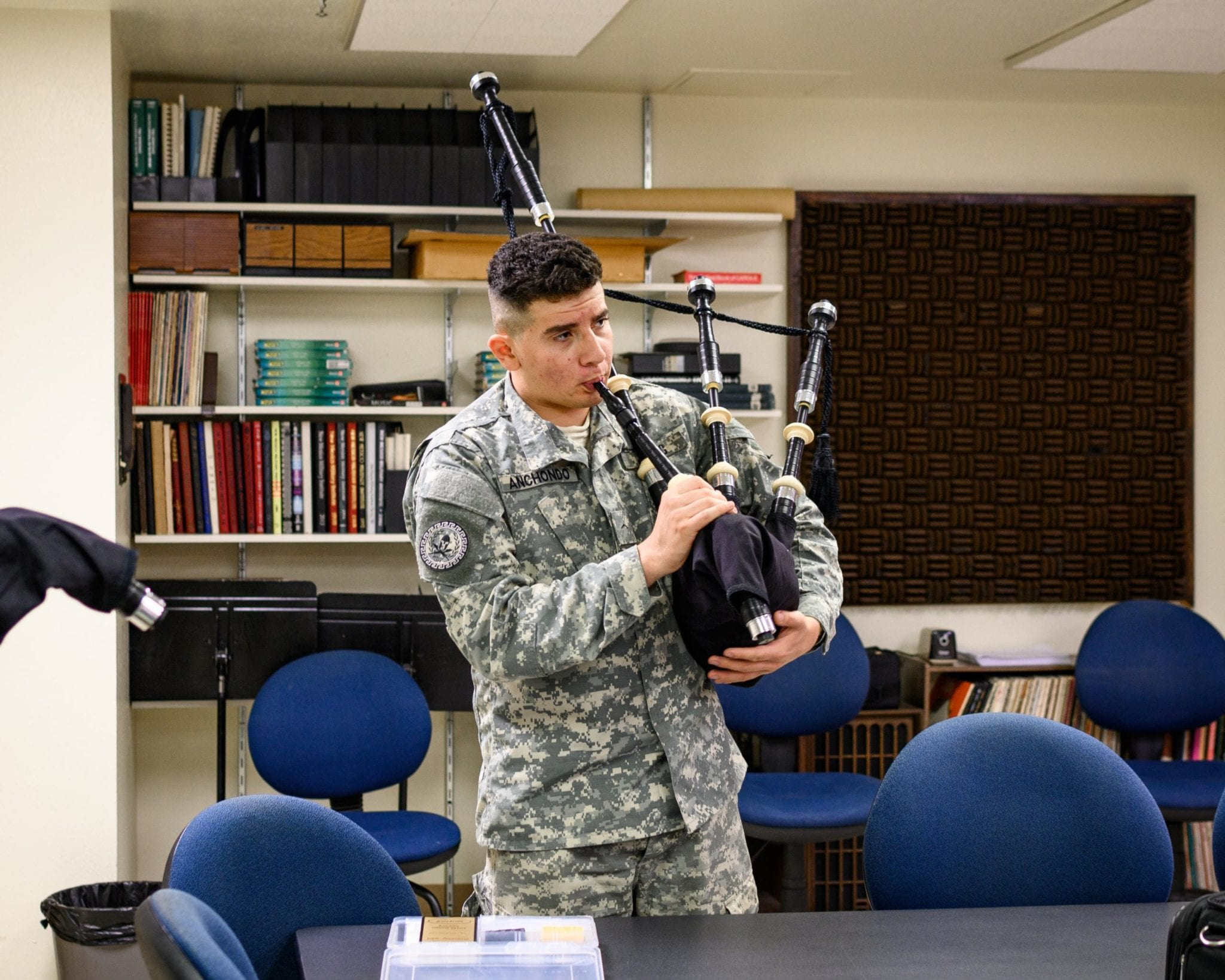 cadet playing bagpipe